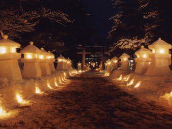 『米沢雪灯籠まつり』の幻想的な雪景色に心躍る・・・